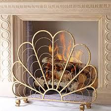 fireplace screens myl single panel