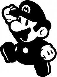 Resultado De Imagen Para Sombras Mario Bros Vinyl Decals Vinyl Decal Stickers Stencils