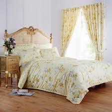 emily fl duvet cover set yellow