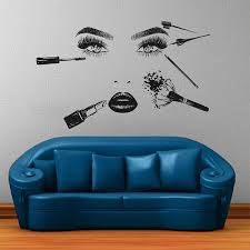 Girl Face Wall Decals Model Girl Wall Decal Beauty Salon Tools Etsy