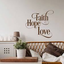Faith Hope Love Wall Decal Inspirational Wall Decal Quote Scripture Home Decoration Bible Verse Wall Decal Waterproof Qu07 Wall Stickers Aliexpress