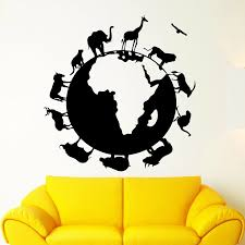 Animal Planet Earth Wall Sticker Nature Vinyl Wall Decal For Kids Room Bedroom Decor Accessories Wall Decals Livingroom C881 Wall Stickers Aliexpress
