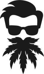 Cannabis Beard Sticker