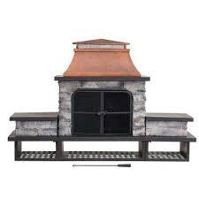 wood outdoor fireplaces outdoor