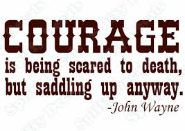 John Wayne Courage Is Being Vinyl Wall Quote Decal New For Sale Online
