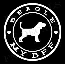 Beagle Love My Bff Vinyl Decal Vinyl Decals Vinyl Decal Stickers Car Decals Vinyl
