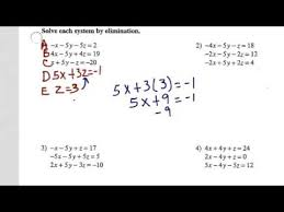 solving systems of equations w