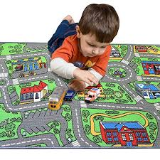 kids road traffic play mat rug large
