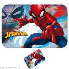 Boys Childrens Marvel Spiderman Bedroom Rug Mat Blue Red 40x60cm Ebay