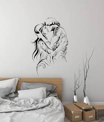 Amazon Com Love Couple Vinyl Wall Decal Adult Bedroom Decorating Idea Stickers Mural And Stick Wall Decals Home Kitchen