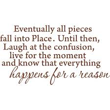 Brown 40 X 22 Eventually All Pieces Fall Into Place Inspirational Quotes And Saying Vinyl Wall Art Home Decor Decal Sticker Walmart Com Walmart Com