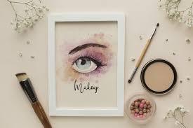 mock up glamorous eye makeup theme