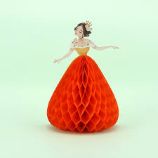 Princesa Diseno 3d Tarjeta De Felicitacion Romantica Hecha A Mano