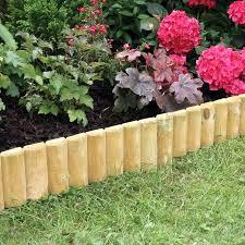 wooden garden edging lawn log roll wood