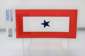 Blue Star Service Banner 3 25 X6 5 Decal Stars Stripes The Flag Store