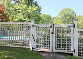 The White Fence Secures The Swimming Pool From Unwanted Guests Stock Image Image Of Vintage Unwanted 193621957