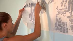 How To Apply Map Of The World Wall Decal By Www Cutzz Com Youtube