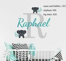 Wall Decal Vinyl Sticker Elephant Boy Girls Baby Nursery Room Personalized Decor Ebay
