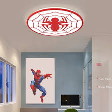 Hot Deal 39d6 Spider Red Color Modern Led Ceiling Lights Deco Chambre Garcon Avize With Remote Control Plafondlamp Kids Room Light Lamp Cicig Co