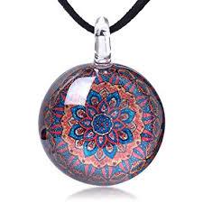 chuvora hand blown glass jewelry blue
