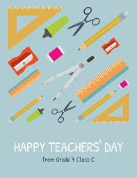 Supplies Happy Teachers' Day Card Template