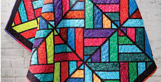 stained glass quilt using fabric strips
