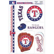 Texas Rangers Car Decals Decal Sets Rangers Car Decal Shop Cbssports Com