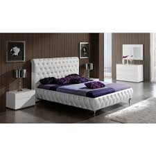 ESF Furniture 629 Adriana King Platform Bed in White