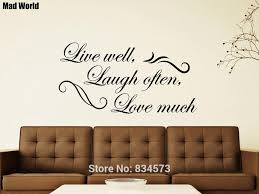 Live Laugh Love Quote Removable Wall Stickers Mirror Decal Art Room Decor Clever