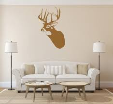 Ik1240 Wall Decal Sticker Deer Head Animal Wood Bedroom Stickersforlife