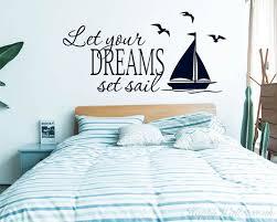 Let Your Dreams Set Sail Nautical Sailing Wall Decor Nursery Wall Art