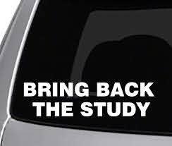 Amazon Com Seek Racing Bring Back The Study Decal Car Truck Window Bumper Sticker Funny Joke Intelligence Smart Books Reading Automotive