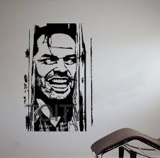 Jack Torrance Jack Nicholson Wall Sticker Movie The Shining Vinyl Decal Dorm Teen Room Home Interior Art Decor Mural Decoration Murale Wall Stickerteen Room Aliexpress