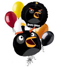 7 pc Black Bomb Angry Birds Balloon Bouquet Party Decoration Video Game  Movie - Walmart.com - Walmart.com
