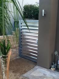 Corrugated Metal Fence Palm Springs Style Contemporary Exterior San Diego By Evanart