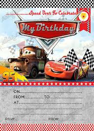 Fiesta De Cumpleanos Invitaciones Disney Cars Rayo Mcqueen Disney