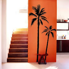 Set Of 2 Palm Tree Vinyl Decal Wall Art Wall Stickers No Background Large Size Coconut Tree Beach Oasis Sout Palm Tree Wall Art Tree Wall Art Beach Wall Decals