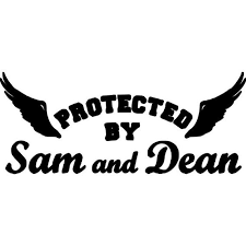 Protected By Sam And Dean Vinyl Decal Supernatural Decal Car Etsy