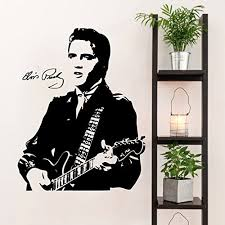 Amazon Com Elvis Presley And Guitar Silhouette Vinyl Wall Decal Sticker Graphic Handmade