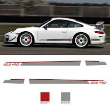 Car Side Stripes Stickers Set Porsche 911 Rs 4 0