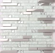 mixed clear glass mosaic tiles