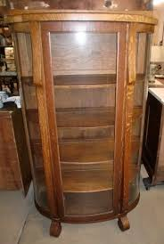 antique display cabinets with glass