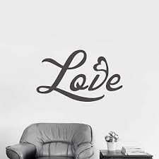 Amazon Com N Sunforest Vinyl Wall Decal Letters Love Patern Design Word Wall Art Removable Decal Stickers Decorative For Living Room Bedroom Couple 22 X36 Home Kitchen