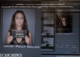 November's real name is revealed to be Polly Keller in HAUNTED, but this  later revealed as false, likely corrupted by the Dollhouse to… | Doll  house, Reveal, Names