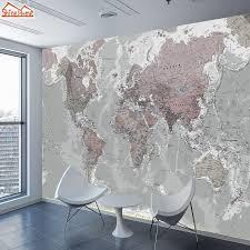 3d Gray World Map Wall Mural Gallery Wallrus Free Worldwide Shipping