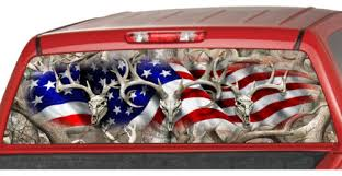 American Flag Buck Skull Hunting Rear Window Graphic Decal Tint Suv Camouflage 1 Auto Parts And Vehicles Car Truck Graphics Decals Magenta Cl