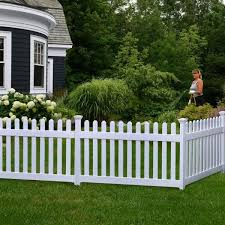 Zippity Outdoor Products 3 Ft X 6 Ft Newport Picket Fence W Post And No Dig Steel Pipe Anchor Kit Zp19002 The Home Depot