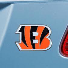 Fanmats Nfl Cincinnati Bengals 3d Molded Full Color Metal Emblem 22545 The Home Depot