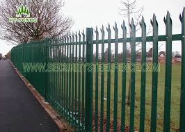 Prison Stainless Steel Palisade Fencing Welded Steel Mesh Panels With Ipe Post