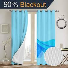 Amazon Com Frozen Blackout Curtains Curtains For Living Room Kids Rooms Decoration W52 X L63 Inch Home Kitchen
